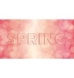 Embossed inscription spring vector