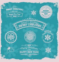 grunge seasons greetings banners vector image