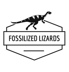 Jurassic lizard logo simple black style vector