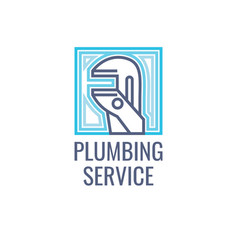 Logo plumbing service vector