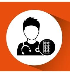 Nurse character pharmacy medicine design vector