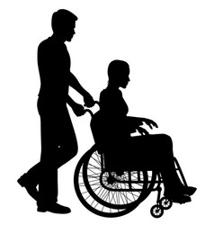 patient in wheelchair vector image