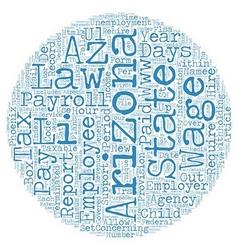Payroll arizona unique aspects of arizona payroll vector