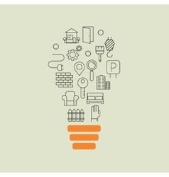 Real estate outline idea background vector