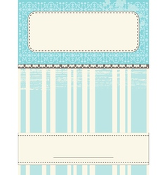 Scrap Template Card vector image