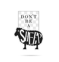 Sheep icon cartoon on white vector