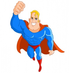 super hero flying vector image vector image