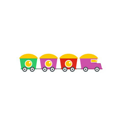train with cargo icon flat style vector image