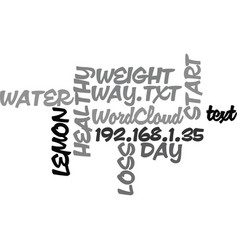 Water with lemon for weight loss start your day vector
