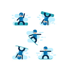 winter games snowboarding vector image vector image