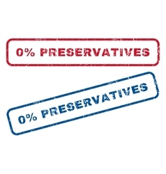 0 percent preservatives rubber stamps vector