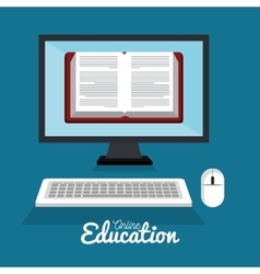online education e-learning e-book technology vector image