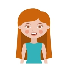 Half body girl with long hair vector