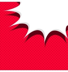 Comic red background sketch explosion vector image
