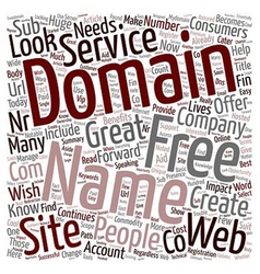 Domain name free services where to get them text vector