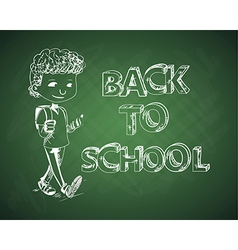 Education back to school chalboard kid vector image