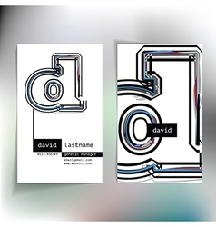 Business card design with letter d vector