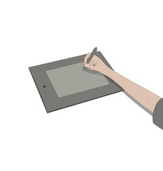 drawing with tablet vector image