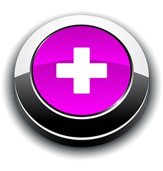 Switzerland 3d round button vector