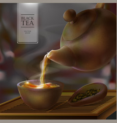 3d of a tea ceremony from the vector