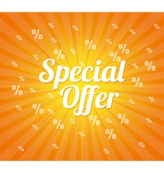 Special offer design vector