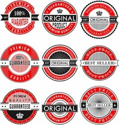 Vintage design label original vector