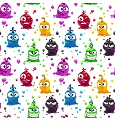 Seamless pattern with funny jelly characters vector
