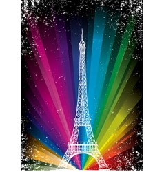 Card with eiffel tower vector