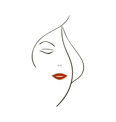 background with a stylized portrait of the vector image