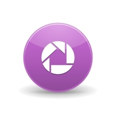 Picasa icon simple style vector