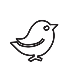 Black contour birds A simple of a vector image