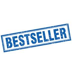Bestseller blue square grunge stamp on white vector