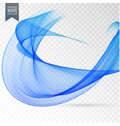 Abstract blue wave transparent effect background vector
