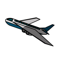 Airplane taking off vector