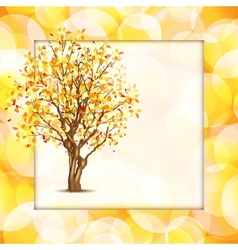 Beautiful autumn frame vector image vector image