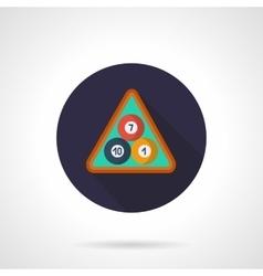 Billiard balls in triangle flat round icon vector