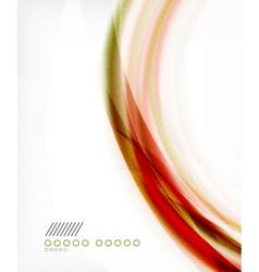 Business color swirl minimal design template vector image