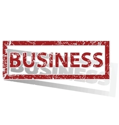 Business outlined stamp vector