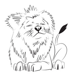 Cartoon image of lion vector