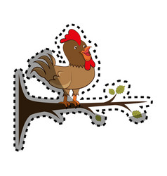 Chicken farm isolated icon vector
