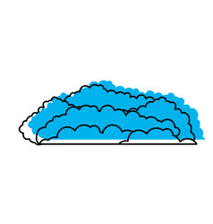 cloud cumulus blue watercolor silhouette vector image vector image