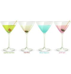 Cocktails Set vector image vector image
