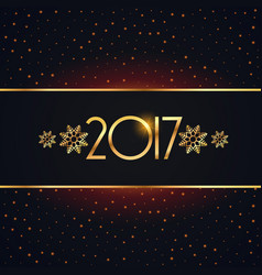Elegant 2017 new year background design vector