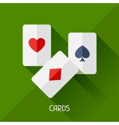 Game with cards in flat design style vector