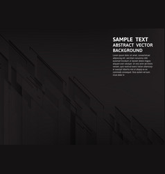 Geometric black abstract background vector