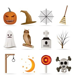 halloween icon pack vector image