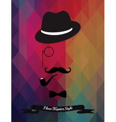 Hipster on triangle background vector