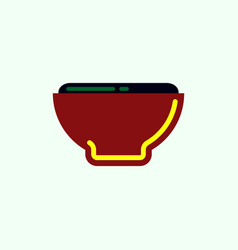 Japanese food miso soup vector
