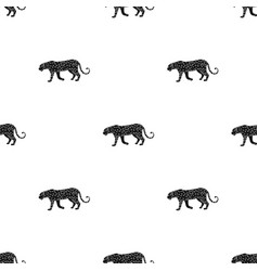 Leopardafrican safari single icon in black style vector