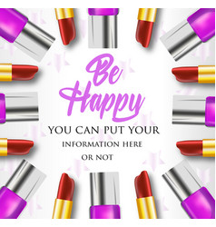 makeup composition be happy vector image